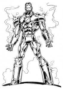 coloring page Iron man (12)