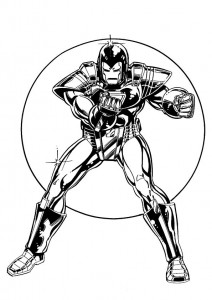 coloring page Iron man (13)