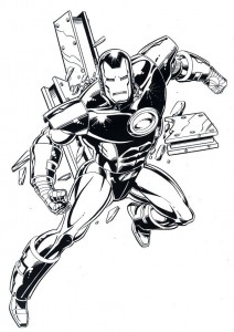 coloring page Iron man (14)