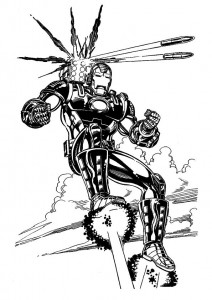 coloring page Iron man (15)