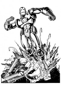 coloring page Iron man (16)