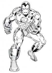 coloring page Iron man (17)