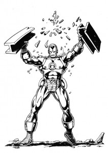 coloring page Iron man (18)
