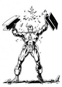 målarbok Iron man (18)