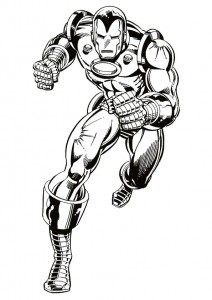 målarbok Iron man (2)