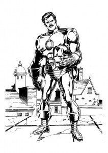 coloring page Iron man (20)