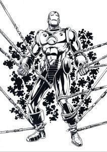 coloring page Iron man (22)