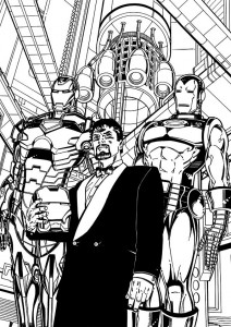 coloring page Iron man (24)