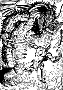 målarbok Iron man (25)
