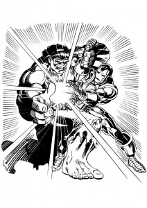 coloring page Iron man (27)