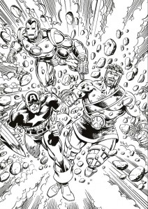 coloring page Iron man (28)