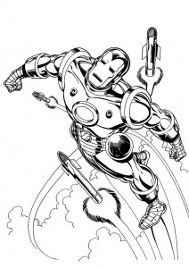 coloring page Iron man (3)