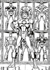 coloring page Iron man (30)