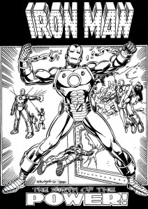 coloring page Iron man (32)