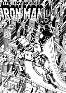 coloring page Iron man (34)