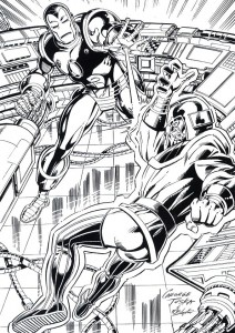 coloring page Iron man (35)