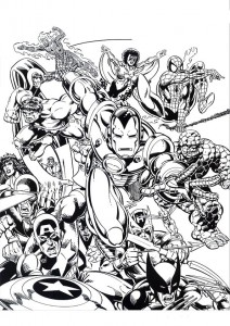 coloring page Iron man (37)