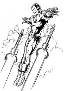målarbok Iron man (4)