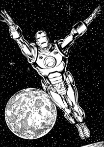 coloring page Iron man (41)