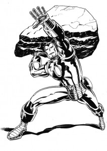 coloring page Iron man (43)