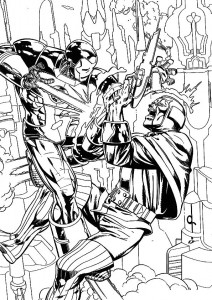 coloring page Iron man (46)