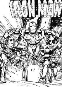 coloring page Iron man (48)