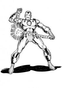 målarbok Iron man (5)