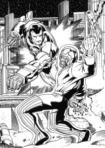 coloring page Iron man (50)