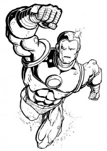 coloring page Iron man (55)