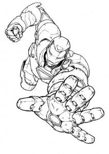 coloring page Iron man (56)
