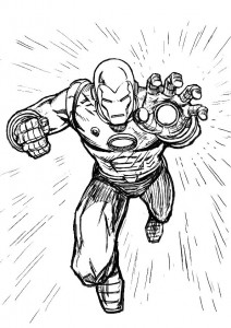coloring page Iron man (58)