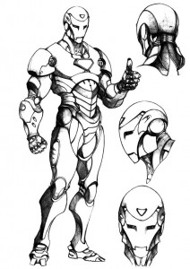 målarbok Iron man (59)