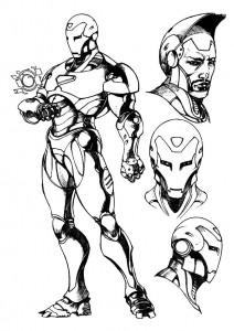 målarbok Iron man (60)