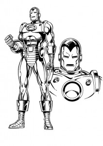 coloring page Iron man (7)