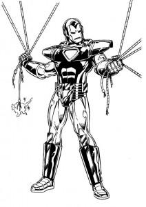 målarbok Iron man (8)