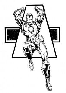 målarbok Iron man (9)