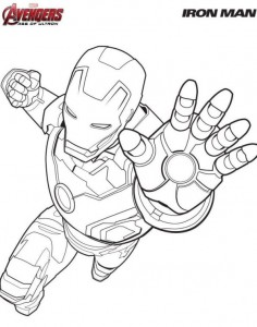 kleurplaat Iron man