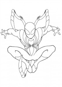 coloring page iron spider