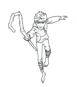målarbok Jack Frost
