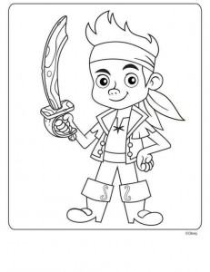 coloring page Jake and the never thought priests