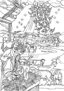 målarbok Jesus är född