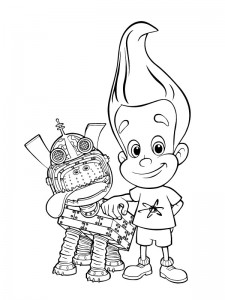 coloring page Jimmy Neutron (13)