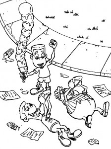 coloring page Jimmy Neutron (2)