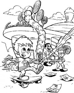 coloring page Jimmy Neutron (24)
