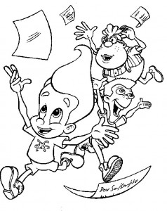 coloring page Jimmy Neutron (25)