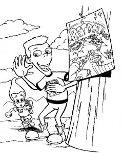 coloring page Jimmy Neutron (29)
