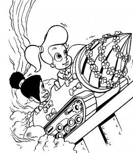 coloring page Jimmy Neutron (5)
