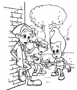 coloring page Jimmy Neutron (8)