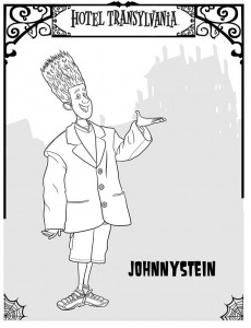 coloring page Johnnystein 2
