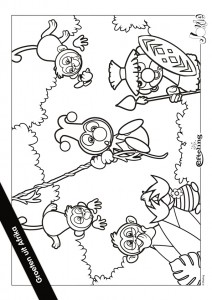 coloring page Jokie AFRICA